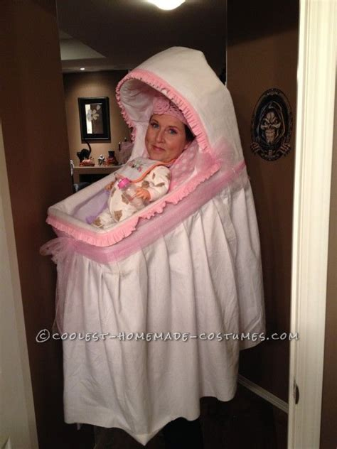 Best Homemade Baby Bassinet Illusion Costume!   Cool