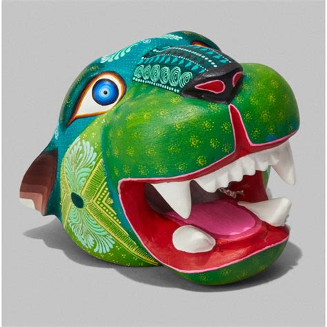 Green Jaguar Alebrije Mask ⎮ 60 years being the reference