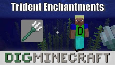 Trident Enchantments in Minecraft - YouTube
