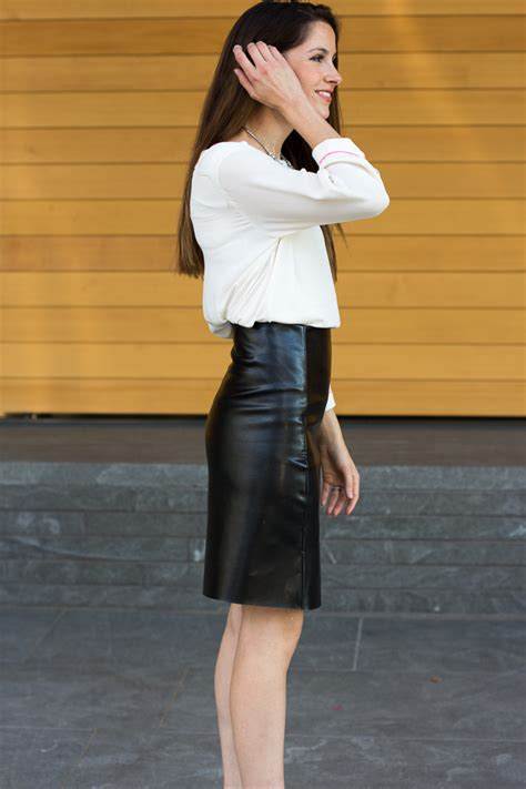 Cool And Classy Leather Skirt Outfit Ideas – The WoW Style