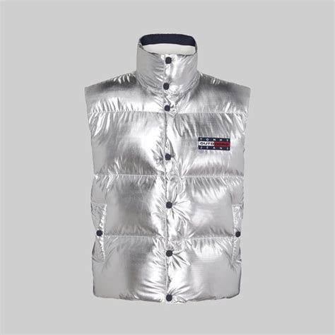 TOMMY JEANS METALLIC SILVER PUFFER VEST SILVER | TOMMY