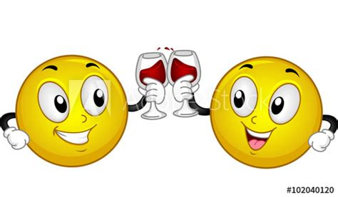 """""""Smiley Couple Wine Toast"""" Stock image and royalty-free"""