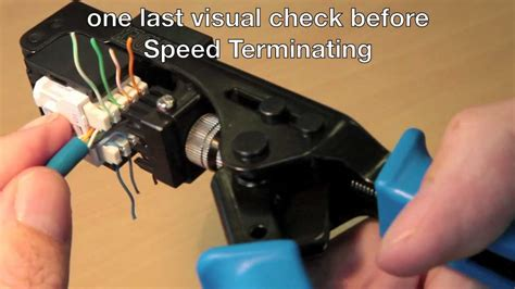 How to use the Cat 6 'Speed Termination Tool' - YouTube