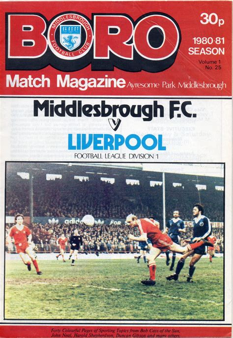 Matchdetails from Middlesbrough - Liverpool played on